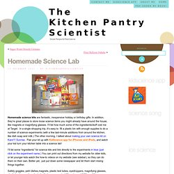 Homemade Science Lab « The Kitchen Pantry Scientist