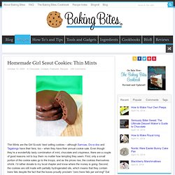 Homemade Girl Scout Cookies: Thin Mints