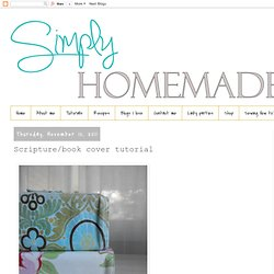 simply homemade: Scripture/book cover tutorial