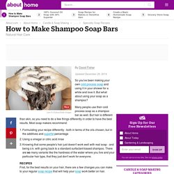 Homemade Shampoo Soap Bars Recipe and Instructions