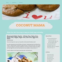 Homemade Baby Snacks – Gluten-free, Dairy-free, Grain-free, Vegan, Sugar-free, Nut-free, Egg-free, Paleo