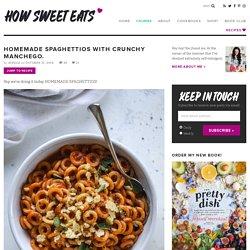 Homemade Spaghettios with Crunchy Manchego - Spaghettios Recipe