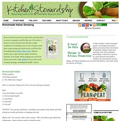 Homemade Italian Dressing | Kitchen Stewardship