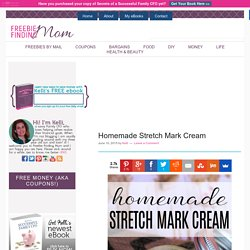 Homemade Stretch Mark Cream with Coconut Oil
