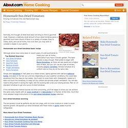 Homemade Sun-Dried Tomatoes Recipe Basics