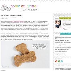 Homemade Dog Treats (recipe)