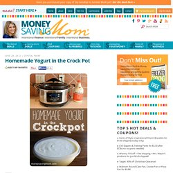 Homemade Yogurt in the Crock Pot