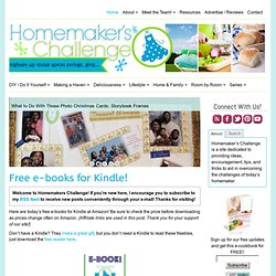 Homemakers Challenge — Tighten up those apron strings girls...