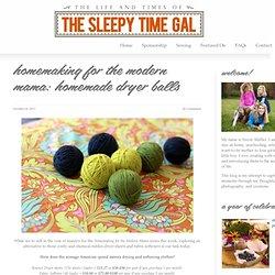 DIY Wool Dryer Balls - The Sleepy Time Gal