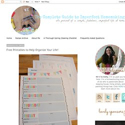 Free Printables to Help Organize Your Life!