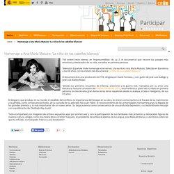 Homenaje a Ana María Matute: 'La niña de los cabellos blancos' - Inicio - educaLAB