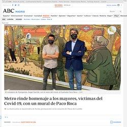 Metro rinde homenaje a los mayores, víctimas del Covid-19, con un mural de Paco Roca
