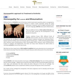 Homeopathic approach to arthritis treatment by Dr. Tsan