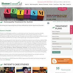 Homeopathic Treatment For Autism - HomeoConsult
