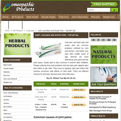 How To Relieve Sciatic Pain, Homeopathic Remedies For Joint Pain And Low Back Pain - HomeopathicProduct.com