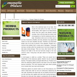 Homeopathic Remedies For Pimples And Acne, Acne Skin Treatment - HomeopathicProduct.com