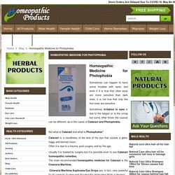 Cineraria Maritima Euphrasia, Homeopathic Treatment and Remedies for Cataract - HomeopathicProduct.com