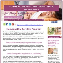 Homeopathic Fertility Program: Getting Pregnant Naturally With Homeopathy!