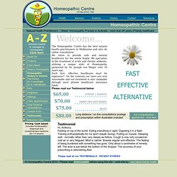 Homeopathic Centre, Homeopathy, Homeopath, Melbourne, Natural Health Practitioners, Australia