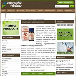 Painful Menstruation Treatment, Cure For Abdominal Cramps, Dysmenorrhea Treatment - HomeopathicProduct.com