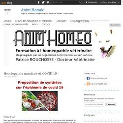 Homéopathie mondiale et COVID 19 - Anim'Homéo