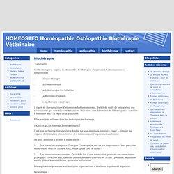 HOMEOSTEO Homéopathie Ostéopathie Biothérapie Vétérinaire » biothérapie