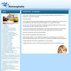homéopathie : les principes