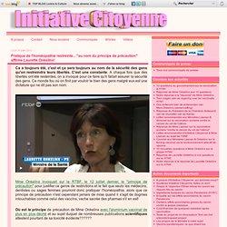 """Pratique de l'homéopathie restreinte... """"au nom du principe de précaution"""" affirme Laurette Onkelinx"""