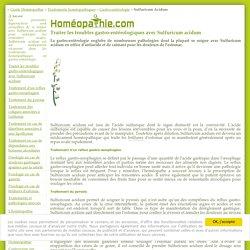 Homéopathie Sulfuricum acidum