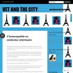 L'homeopathie en médecine vétérinaire