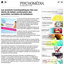 Les produits homéopathiques liés aux décès de bébés contenaient des quantités variables de belladone
