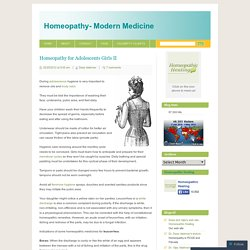 Homeopathy for Adolescents Girls II