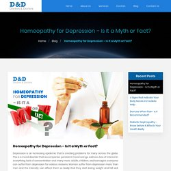 Homeopathy for Depression – Is It a Myth or Fact?