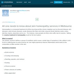 All one needs to know about skin homeopathy services in Melbourne: elixiroflifehom