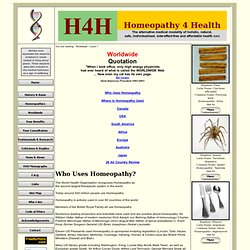 H4H Homeopathy 4 Health - Worldwide - Level 1