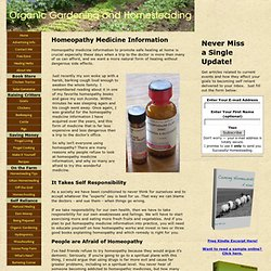Homeopathy Medicine Information