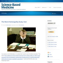 The Worst Homeopathy Study. Ever