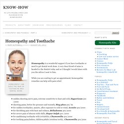 Homeopathy and Toothache