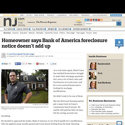 Homeowner says Bank of America foreclosure notice doesn't add up
