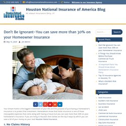 Save more than 30% on your Homeowner Insurance