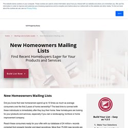 New Homeowner Mailing Lists & Sales Leads
