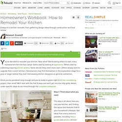 Homeowner's Workbook: How to Remodel Your Kitchen