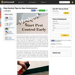 Pest Control Tips for New Homeowners