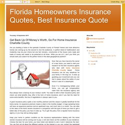Florida Homeowners Insurance Quotes, Best Insurance Quote: Get Back Up Of Money's Worth, Go For Home Insurance Charlotte County