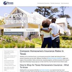 Texas Homeowners Insurance Shopping Guide