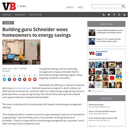 Building guru Schneider woos homeowners to energy savings