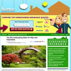 Top 50 Landscaping Sites for Help and Inspiration