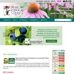Homepage - American Botanical Council