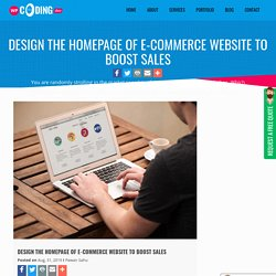 Design the Homepage of E-commerce Website to Boost Sales