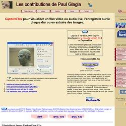 Homepage de CaptureFlux